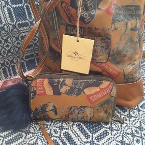 Patricia Nash world traveler patch and wallet